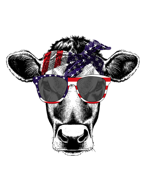 "T-Shirt ""Cow Sunglasses"""