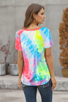 "Top ""Getting Ripped Raglan Sleeve Tie Dye """
