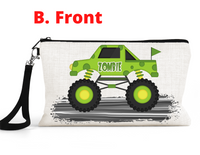 "Accessory/Essential Bag ""Monster Trucks"" Pencil Bag, Essentials"