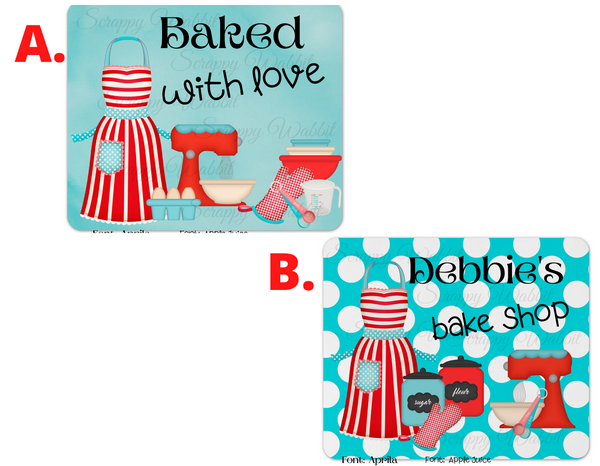 "Mousepad ""Bake Shop"" Baker Kitchen"