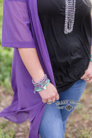 "Duster ""Solid Sheer Purple Duster"" Long"