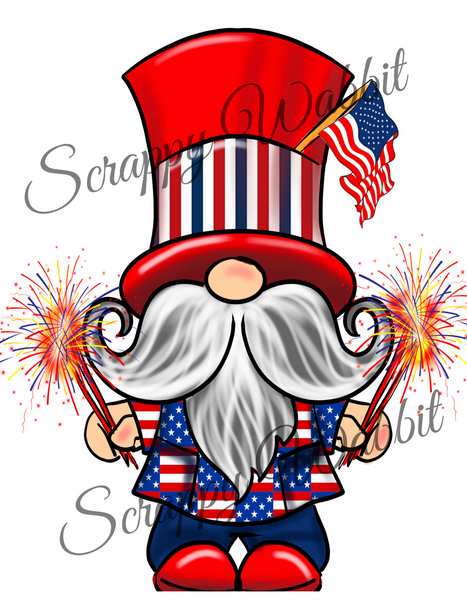 "T-Shirt ""Gnome July 4th"""