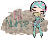 "T-Shirt ""Medical Nurse ER, RN, NICU, ICU"""