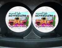 "Car Coaster ""We Must Take Adventures"" Set/2"