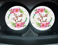 "Car Coaster ""It Is Well With My Soul"" Set/2"