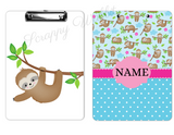 "Clipboard ""Sloth Polka Dot background"""