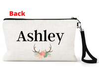 "Makeup/Accessory Bag ""Antlers Floral"""