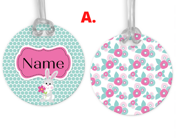 Rabbit, Name Tags, Personalized, Kids,