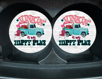 "Car Coaster ""Junkin Is My Happy Place"" Set/2"