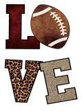 "T-Shirt ""Love Football Leopard"""
