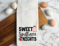 "Kitchen Towel ""Sweet Southern Nights"""