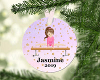 "Tag/Ornament ""Gymnastics"" Personalize"