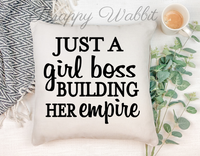 "Pillow Cover ""Girl Boss"""