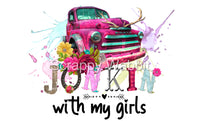 "T-Shirt ""Junkin With My Girls"" Camper"