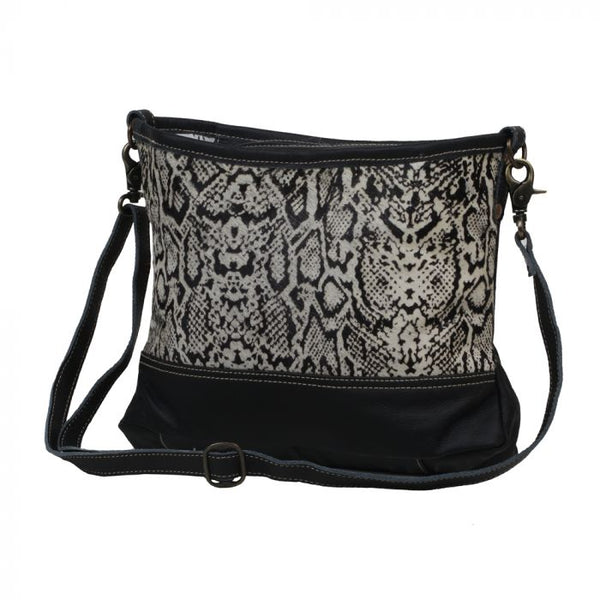 "Myra Bag ""Antiquated Leather and Hairon Bag"""