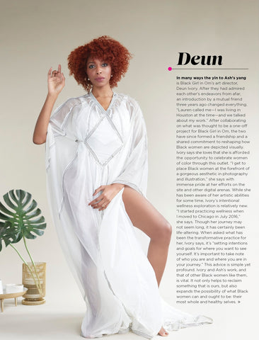 Mahnal in Essence Magazine Worn by Lauren Ash & Deun Ivory of Black Girl in Om