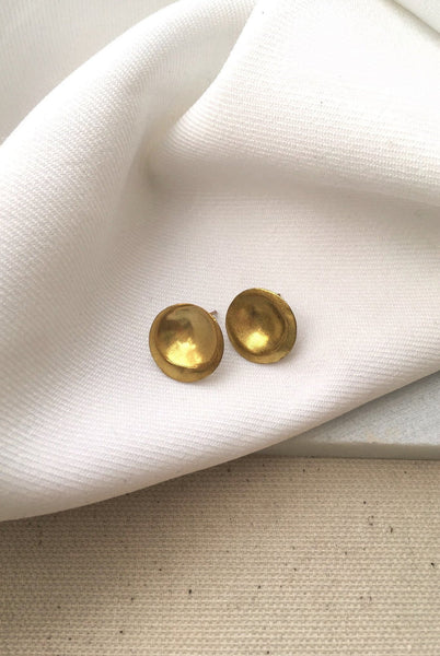 Orecchiette Earrings - Mahnal Jewelry - Contemporary Brass Jewelry