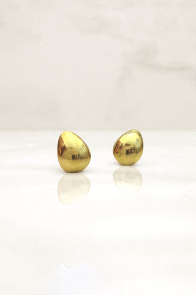 Petite Pod Earrings - Mahnal Jewelry - Contemporary Brass Jewelry