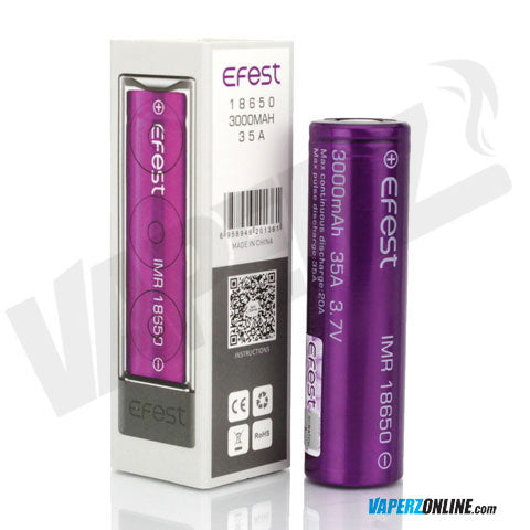 Efest - 18650 20A 3000mah Battery - Vaperz