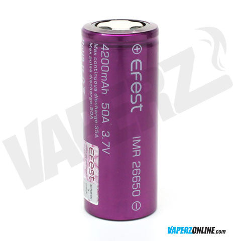 Efest - 26650 4200mah 50A Battery - Vaperz
