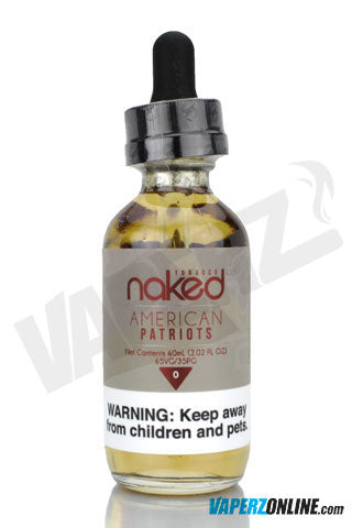 Naked 100 - American Patriots Tobacco - 60ml