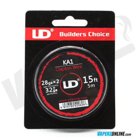UD - Kanthal A1 Clapton Wire 28ga x2 + 32ga - 15ft Spool - Vaperz