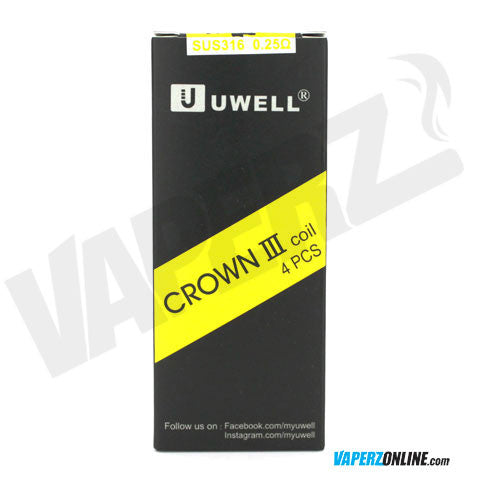 Uwell - Crown 3 Coils - 4 Pack - Vaperz