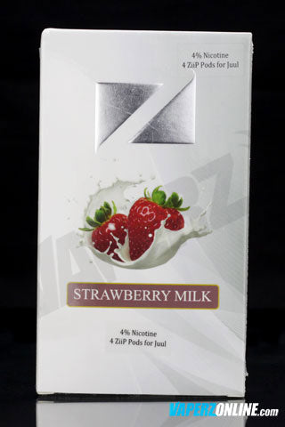 ZiiP Pods for Juul - Strawberry Milk - 4 pack