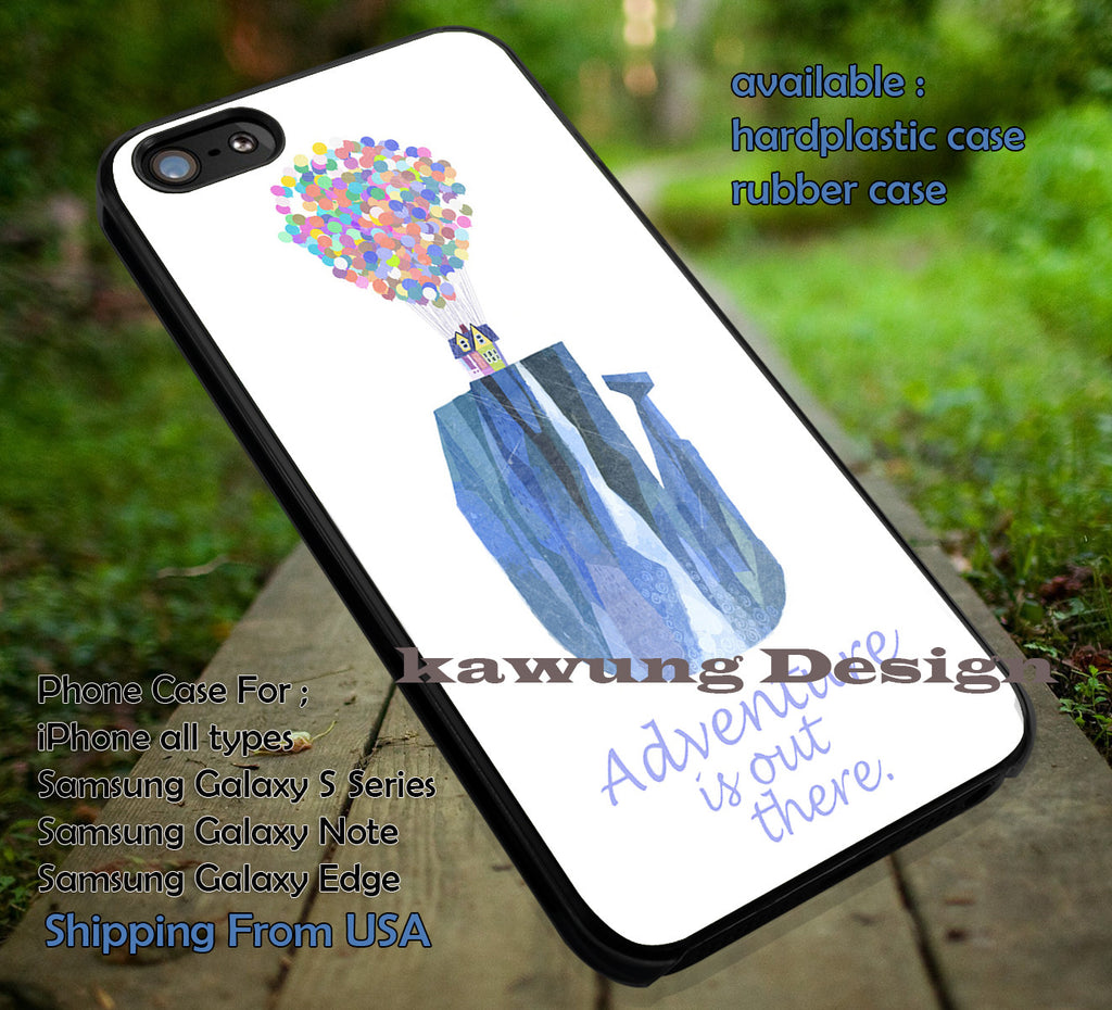 Adventure on Waterfall | Disney Pixar | Up | Adventure is Out There | case/cover for iPhone 4/4s/5/5c/6/6+/6s/6s+ Samsung Galaxy S4/S5/S6/Edge/Edge+ NOTE 3/4/5 #cartoon #disney #animated #up ii - Kawung Design  - 1
