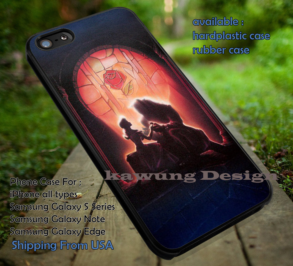 Beauty and The Beast True Love case/cover for iPhone 4/4s/5/5c/6/6+/6s/6s+ Samsung Galaxy S4/S5/S6/Edge/Edge+ NOTE 3/4/5 #cartoon #disney #animated #beautyandthebeast ii - Kawung Design  - 1