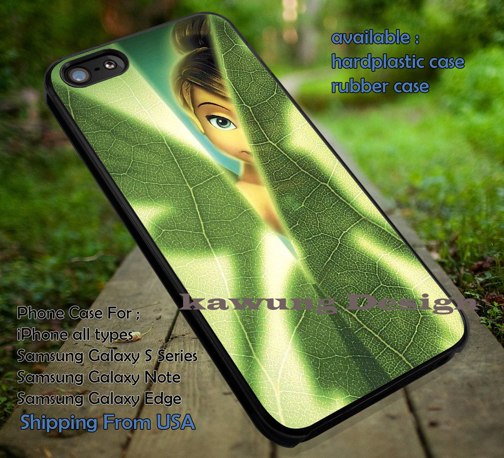 Behind The Leaf | Tinker Bell | Disney Princess | case/cover for iPhone 4/4s/5/5c/6/6+/6s/6s+ Samsung Galaxy S4/S5/S6/Edge/Edge+ NOTE 3/4/5 #cartoon #disney #animated #tinkerbell #comic ii - Kawung Design  - 1