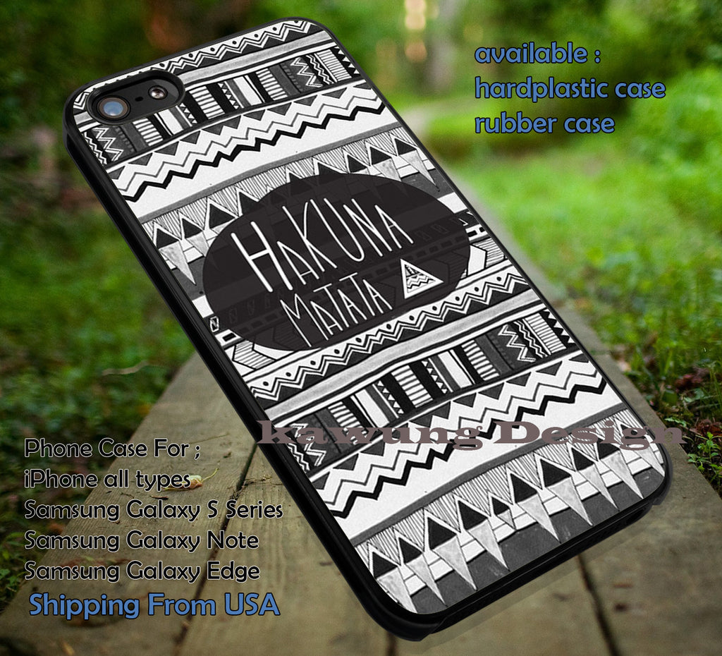 Black and White Aztec Pattern II Hakuna Matata II Aztec Pattern II Lion King II Simba II case/cover for iPhone 4/4s/5/5c/6/6+/6s/6s+ Samsung Galaxy S4/S5/S6/Edge/Edge+ NOTE 3/4/5 #cartoon #disney #animated #theLionKing #movie ii - Kawung Design  - 1