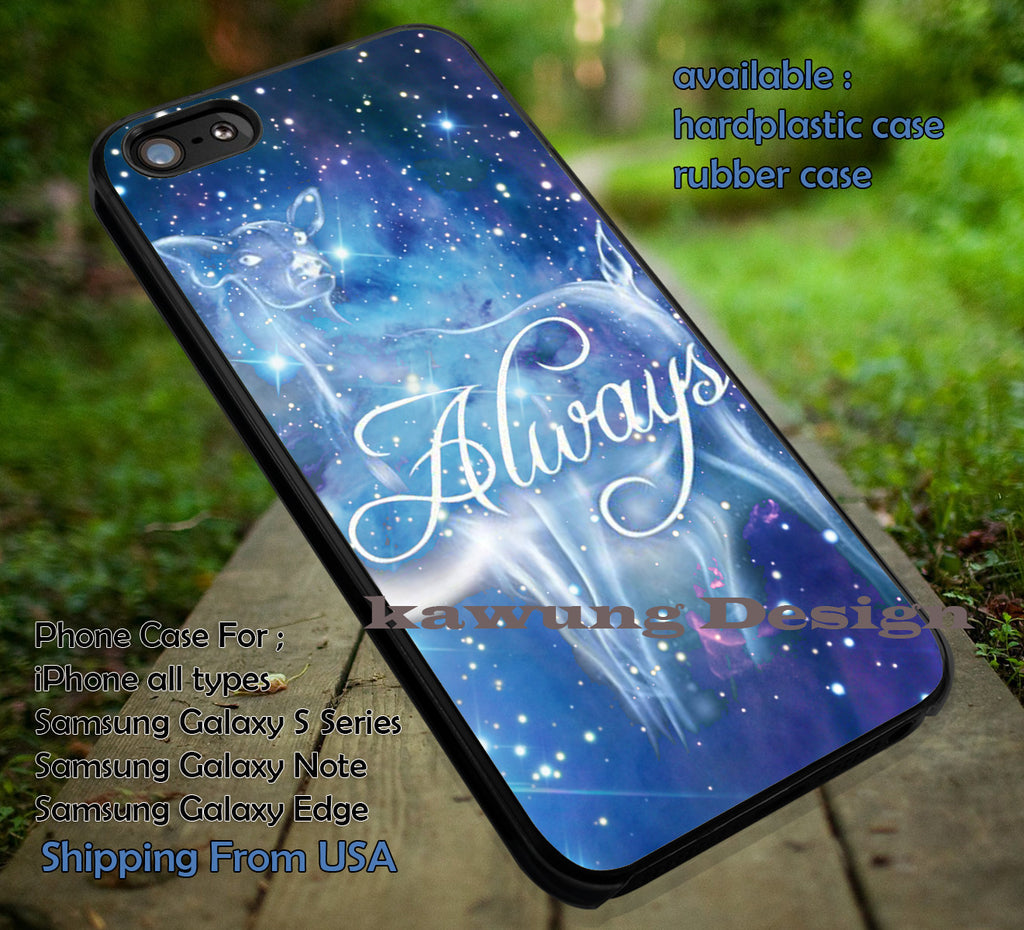 Blue Galaxy Harry Potter Deer Always iPhone 8+ 7 6s Cases Samsung Galaxy S8 S7 edge NOTE 8 5 4