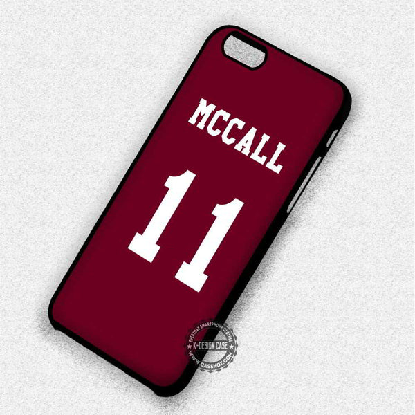 11 Teen Wolf McCall Lacrosse Jersey - iPhone 7 6 Plus 5c 5s SE Cases & Covers - Kawung Design  - 1