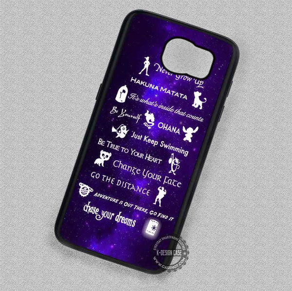 11 Best Lessons Disney - Samsung Galaxy S7 S6 S5 Note 7 Cases & Covers - Kawung Design  - 1