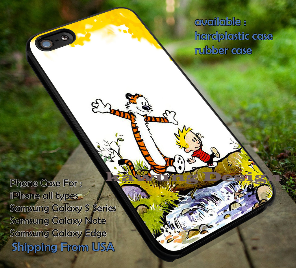 Calvin and Hobbes Rivers iPhone X 8+ 7 6s Cases Samsung Galaxy S8 S7 edge NOTE 8 5 4