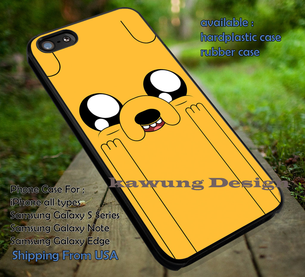Adventure Time Jake Face Funny iPhone 8+ 7 6s Cases Samsung Galaxy S8 S7 edge NOTE 8 5 4