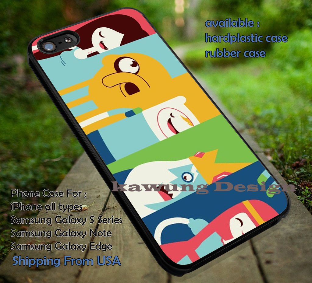 Adventure Time, Jake, Adventure, Time, Cartoon, Funny, case/cover for iPhone 4/4s/5/5c/6/6+/6s/6s+ Samsung Galaxy S4/S5/S6/Edge/Edge+ NOTE 3/4/5 #cartoon #anime #adventuretime ii - Kawung Design  - 1