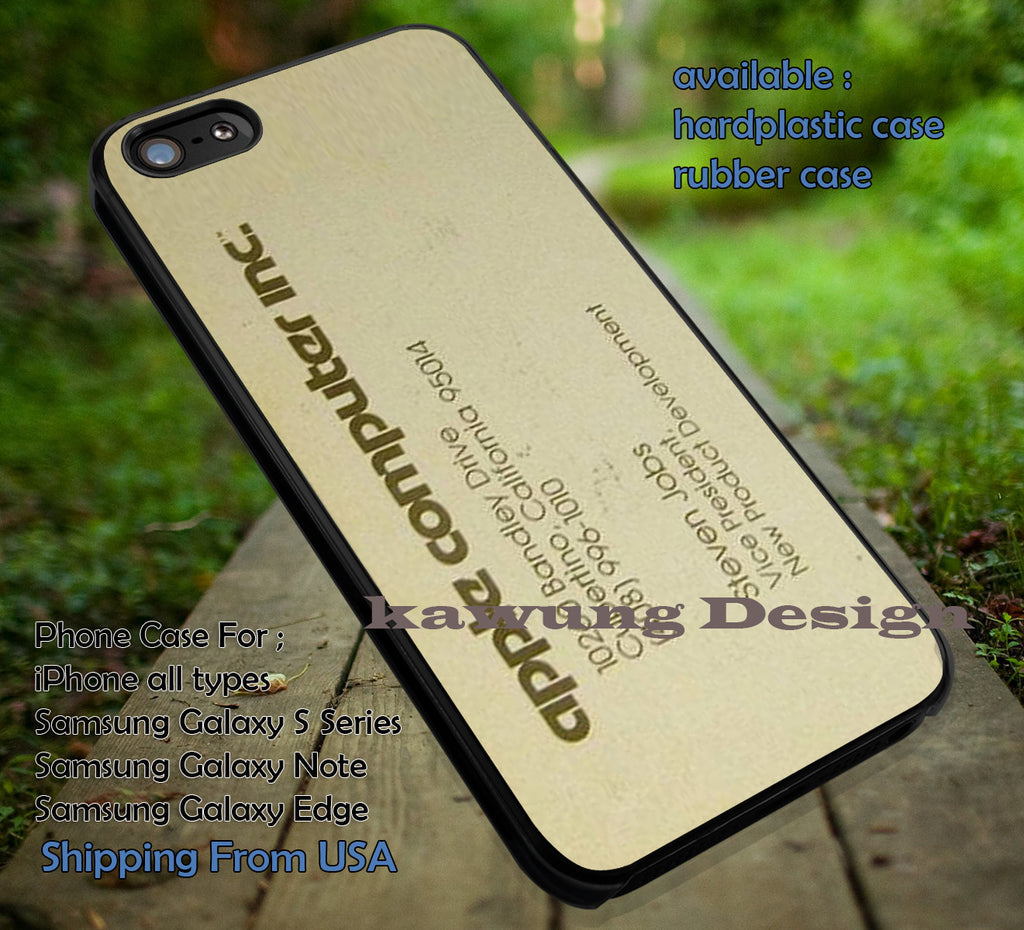 Steve Jobs Business Card Iphone 6s 6 6s 6plus Cases Samsung Galaxy