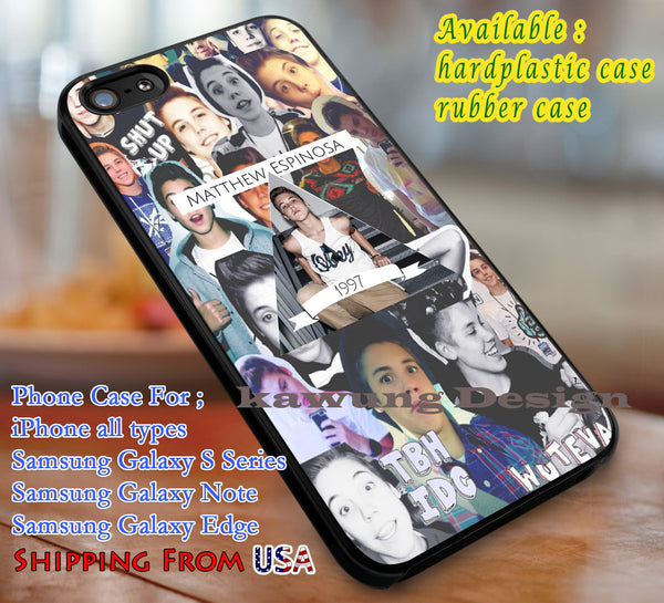 1997 Boy Matt Espinosa Magcon iPhone 6s 6 6s+ 6plus Cases Samsung Galaxy s5 s6 Edge+ NOTE 5 4 3 #movie #MagconBoys dl3 - K-Designs