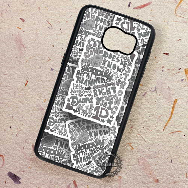 1D Lyrics Collage Midnigt Memories - Samsung Galaxy S7 S6 S5 Note 7 Cases & Covers