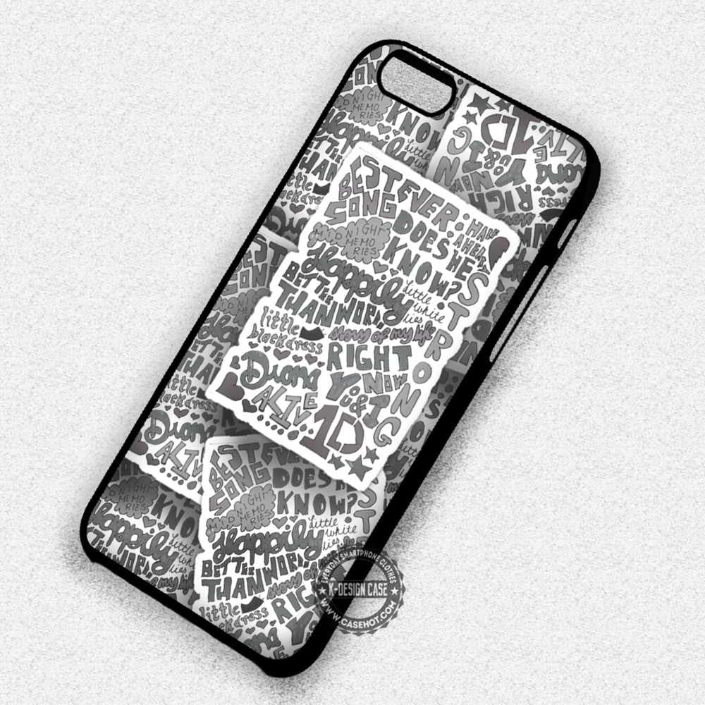 1D Lyrics Collage Midnigt Memories - iPhone 7 6s 5c 4s SE Cases & Covers - Kawung Design  - 1