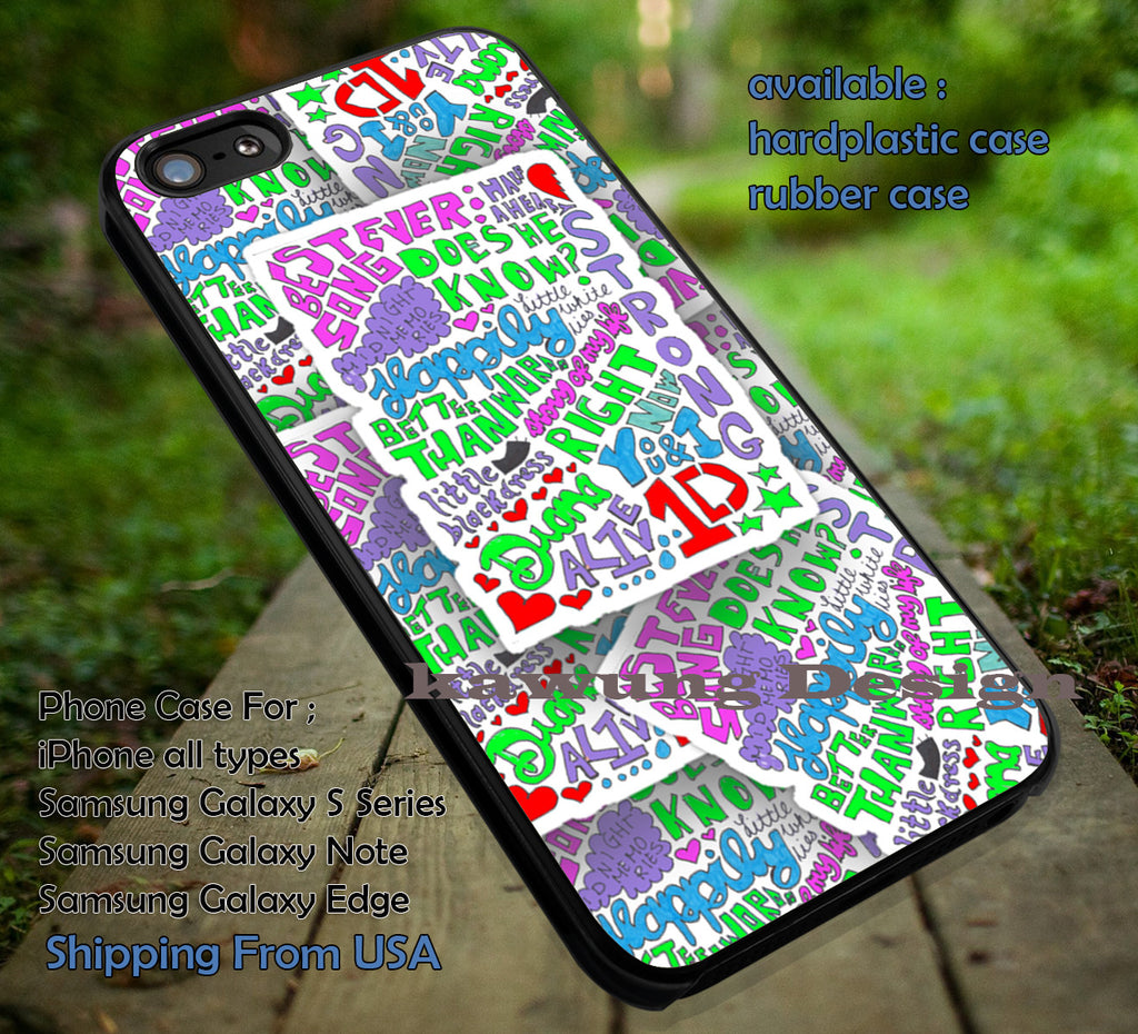 1D lyrics collage, midnigt memories, One Direction, 1D, rainbow, colorful, case/cover for iPhone 4/4s/5/5c/6/6+/6s/6s+ Samsung Galaxy S4/S5/S6/Edge/Edge+ NOTE 3/4/5 #music #1d ii - K-Designs