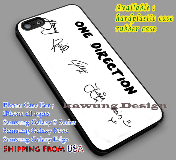 1D's Signatures | Band | Popular iPhone 6s 6 6s+ 6plus Cases Samsung Galaxy s5 s6 Edge+ NOTE 5 4 3 #music #1d dl2 - K-Designs