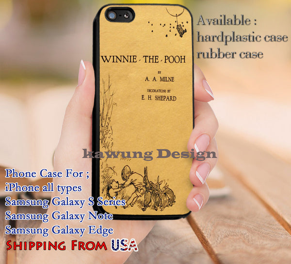 1st Edition Book Winnie The Pooh iPhone 6s 6 6s+ 5c 5s Cases Samsung Galaxy s5 s6 Edge+ NOTE 5 4 3 #cartoon #disney #WinnieThePooh dl9 - K-Designs