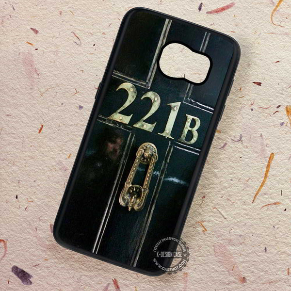 221b Door Sherlock Baker Street - Samsung Galaxy S7 S6 S5 Note 7 Cases & Covers - Kawung Design  - 1