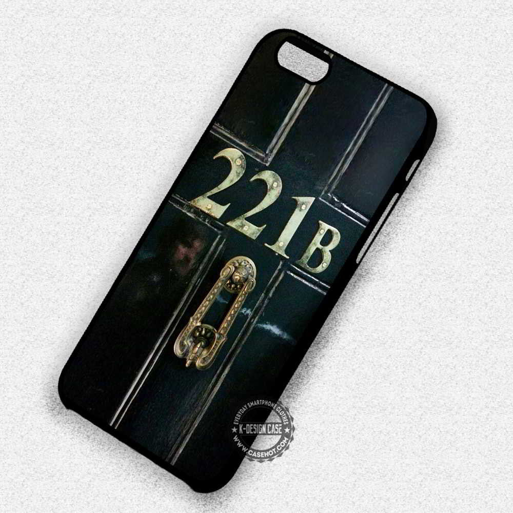 221b Door Sherlock Baker Street - iPhone 7 6 5 SE Cases & Covers - Kawung Design  - 1