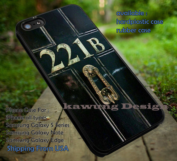 221B Door | Sherlock | Moriarty iPhone 6s 6 6s+ 6plus Cases Samsung Galaxy s5 s6 Edge+ NOTE 5 4 3 #movie #cartoon #superwholock #doctorwho #sherlockholmes ii - K-Designs