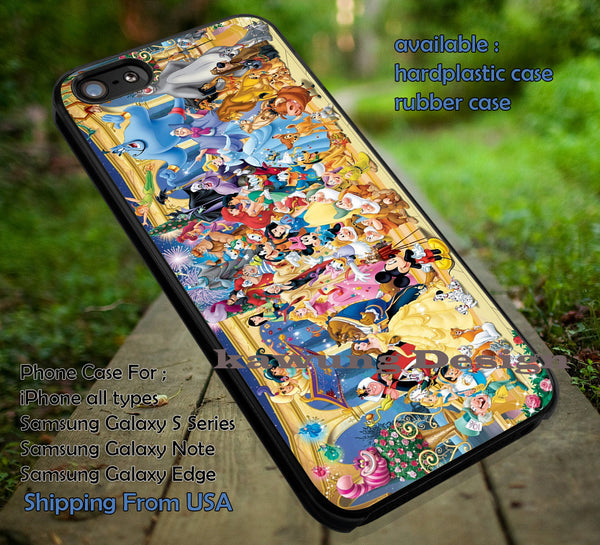 All Character Story, Disney All Character, Princess, Disney Castle, Cartoon, case/cover for iPhone 4/4s/5/5c/6/6+/6s/6s+ Samsung Galaxy S4/S5/S6/Edge/Edge+ NOTE 3/4/5 #cartoon #disney #animated #disneycastle #movie ii - Kawung Design  - 1