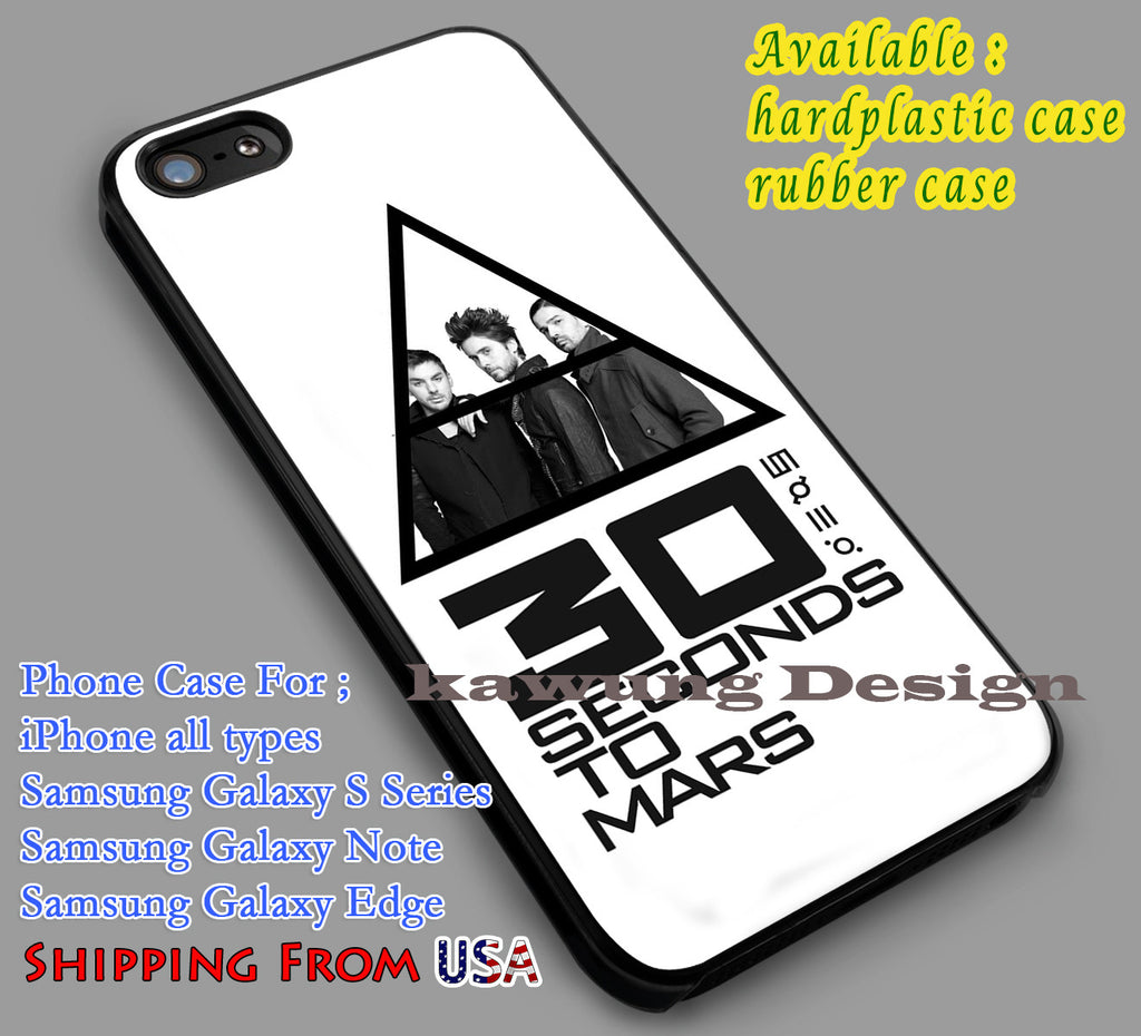 30 Seconds to Mars Logo iPhone 6s 6 6s+ 5c 5s Cases Samsung Galaxy s5 s6 Edge+ NOTE 5 4 3 #music #30s dl5 - K-Designs